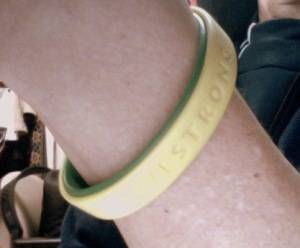 My LiveSTRONG wristband